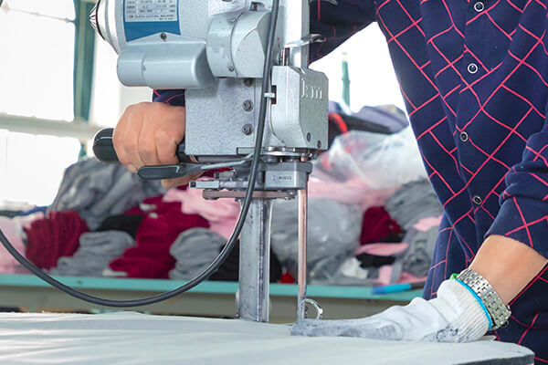 Fabric cutting in garment making